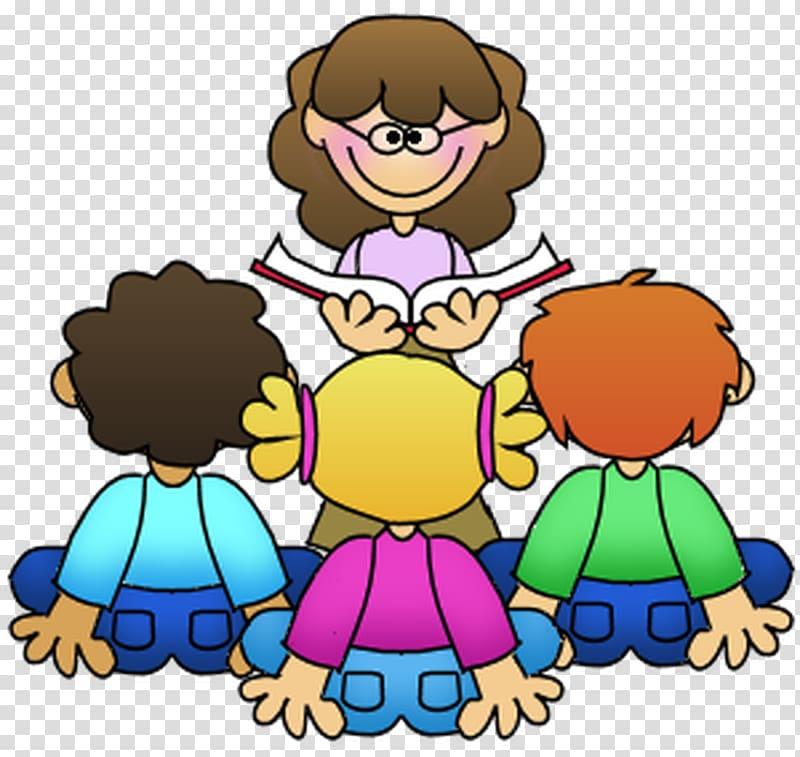 Teaching to student reading clipart svg royalty free download Teacher and three students , Guided reading Teacher Student ... svg royalty free download