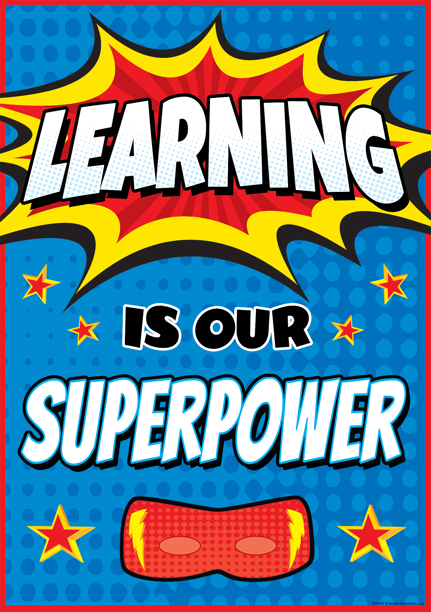 Teaching is my superpower clipart clipart black and white library Learning Is Our Superpower Positive Poster | Affirmations ... clipart black and white library