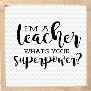 Teaching is my superpower clipart banner freeuse library I\'m a Teacher What\'s Your Superpower SVG - The Girl Creative banner freeuse library