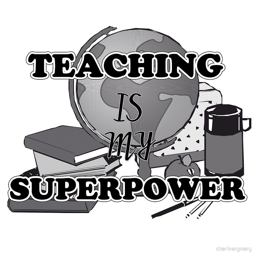 Teaching is my superpower clipart vector download Teaching Is My Superpower\
