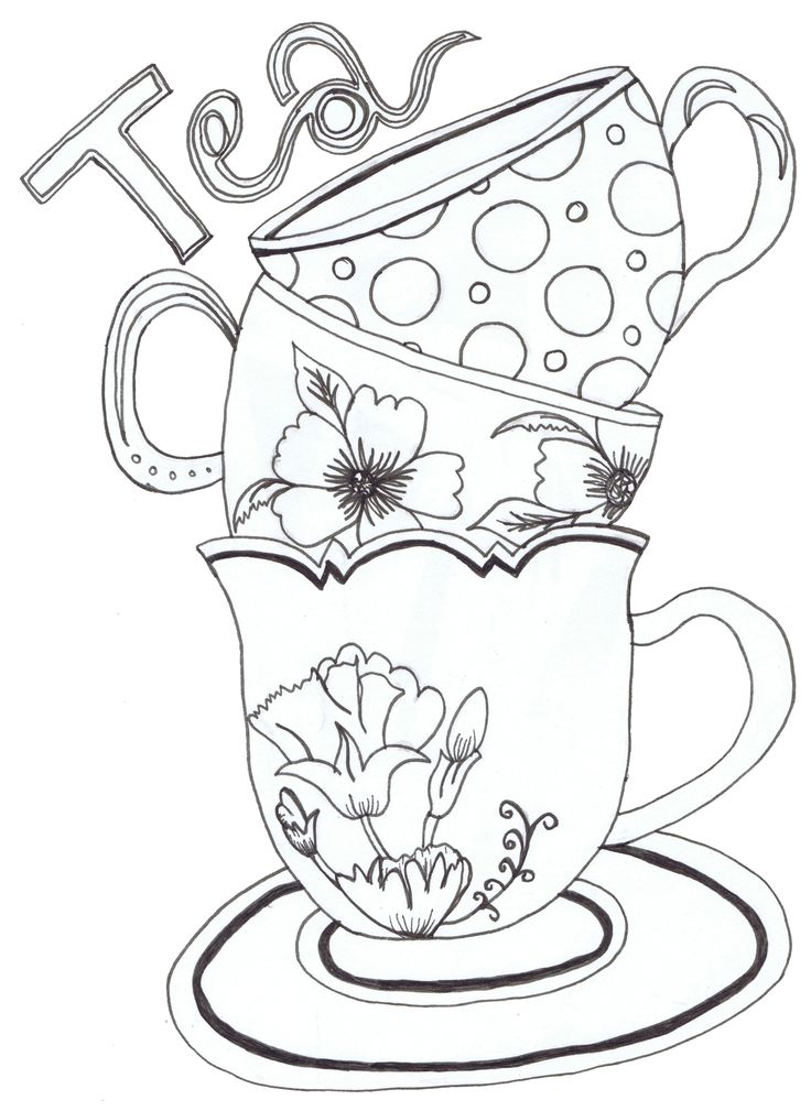 Teacup and a book clipart image library stock Download tea cup coloring page clipart Teacup Coloring book image library stock