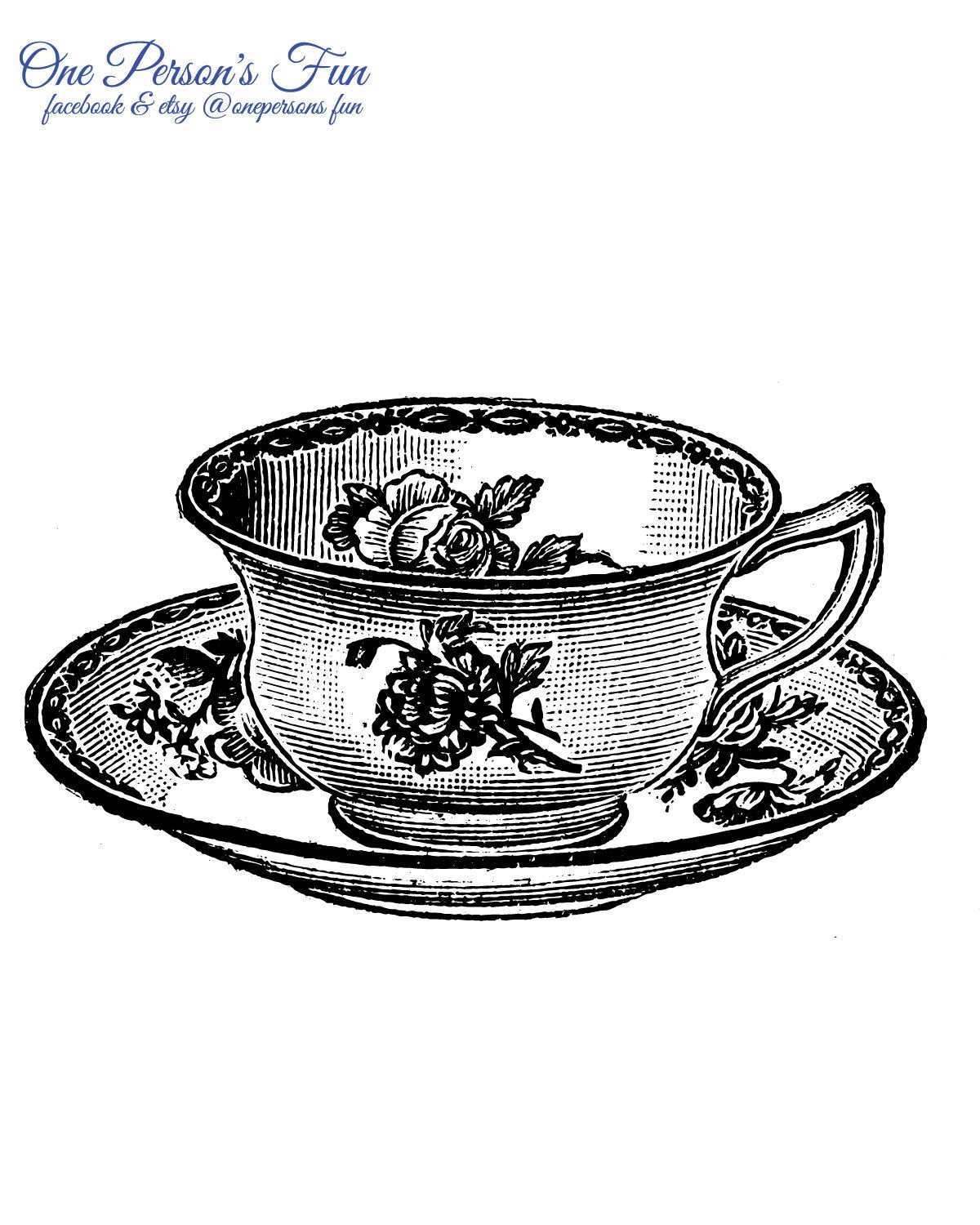Teacup and a book clipart transparent library Vintage Teacup 6 Transparent PNG | vintage clip art ... transparent library