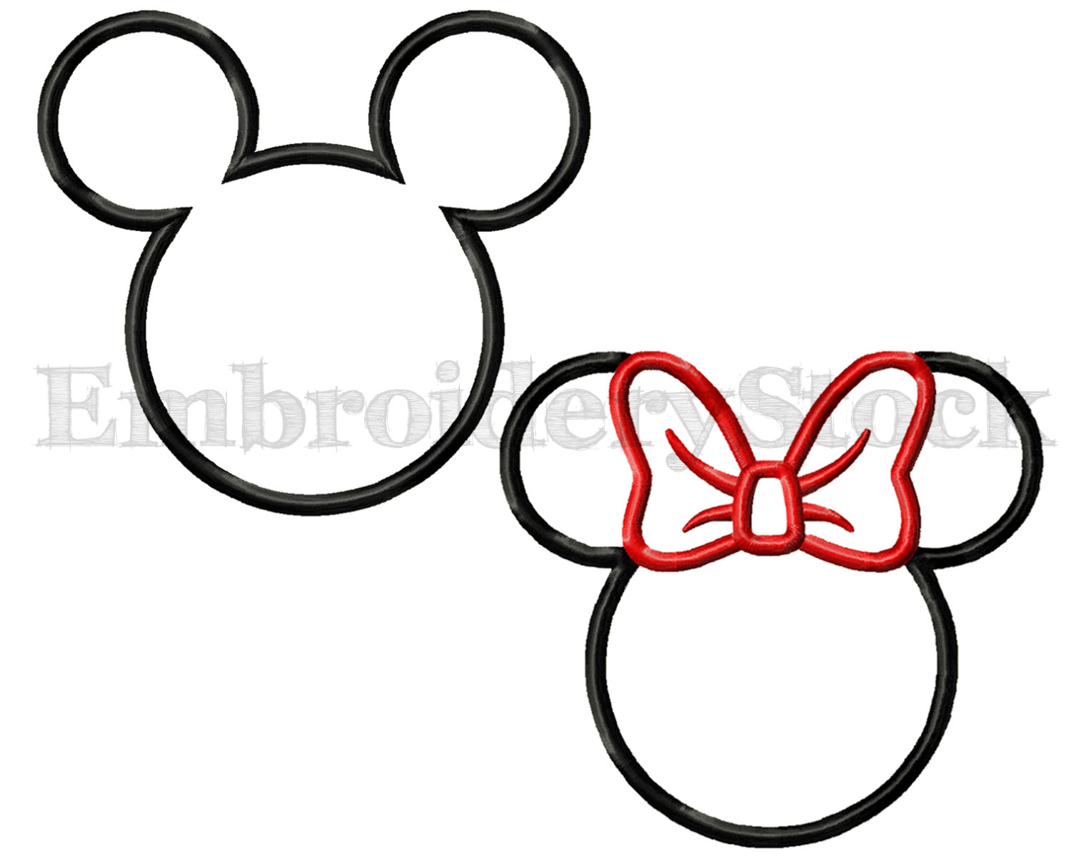 Teacup mickey head black and white clipart free Collection of Applique clipart | Free download best Applique ... free