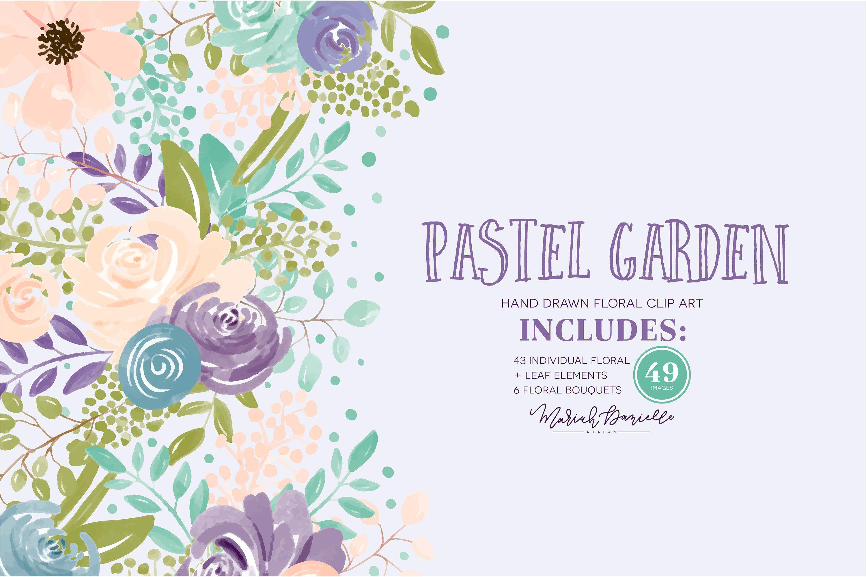 Teal and purple floral clipart graphic transparent Watercolor Flower Clipart Set, Purple, Blush, Hand Painted ... graphic transparent