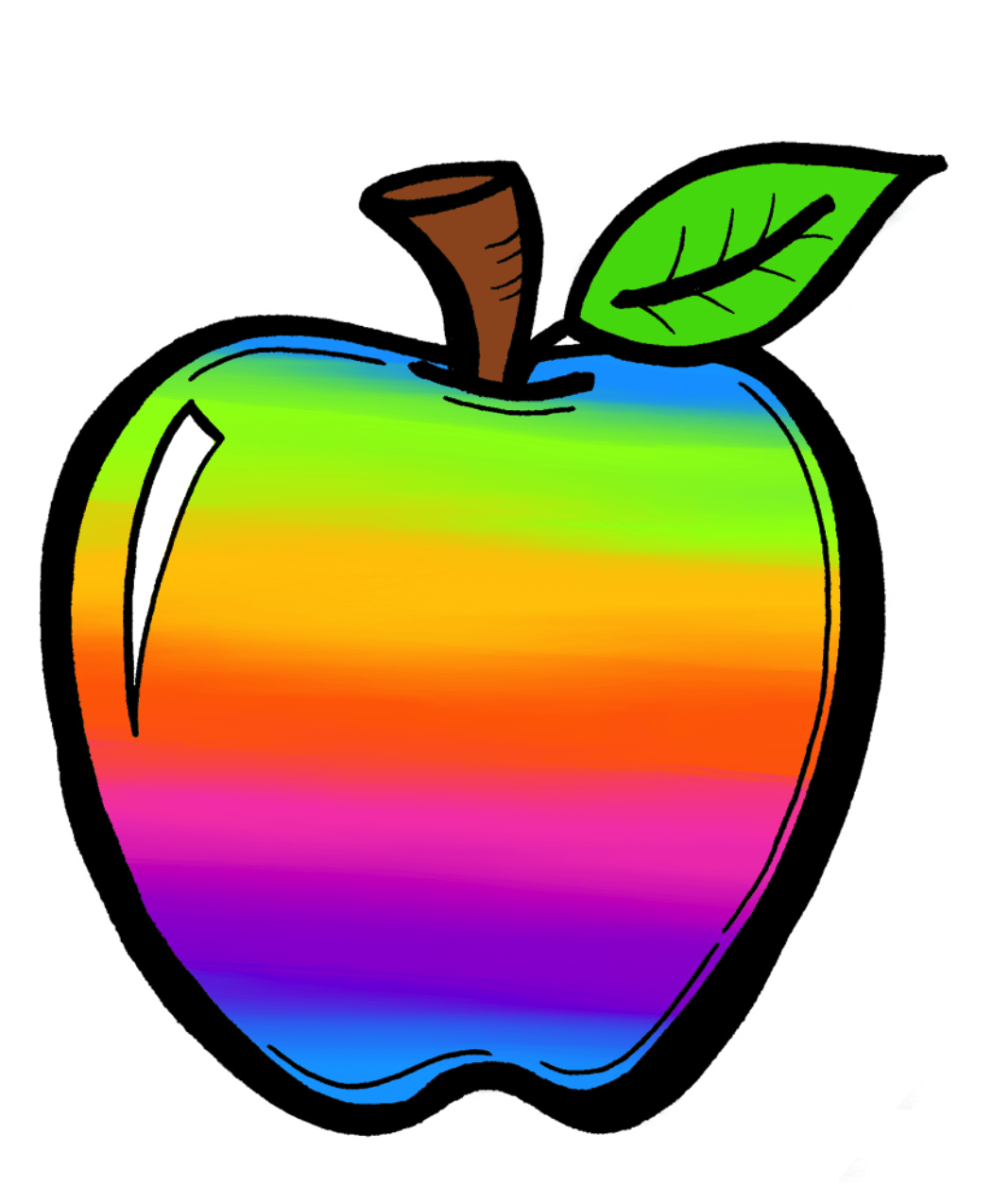 Teal apple clipart png Rainbow Apple Cliparts - Cliparts Zone png
