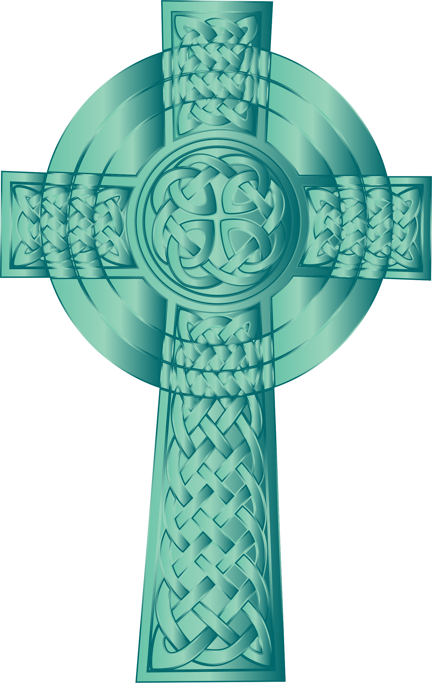 Turquoise cross clipart banner library download Clipart - Jade Celtic Cross banner library download