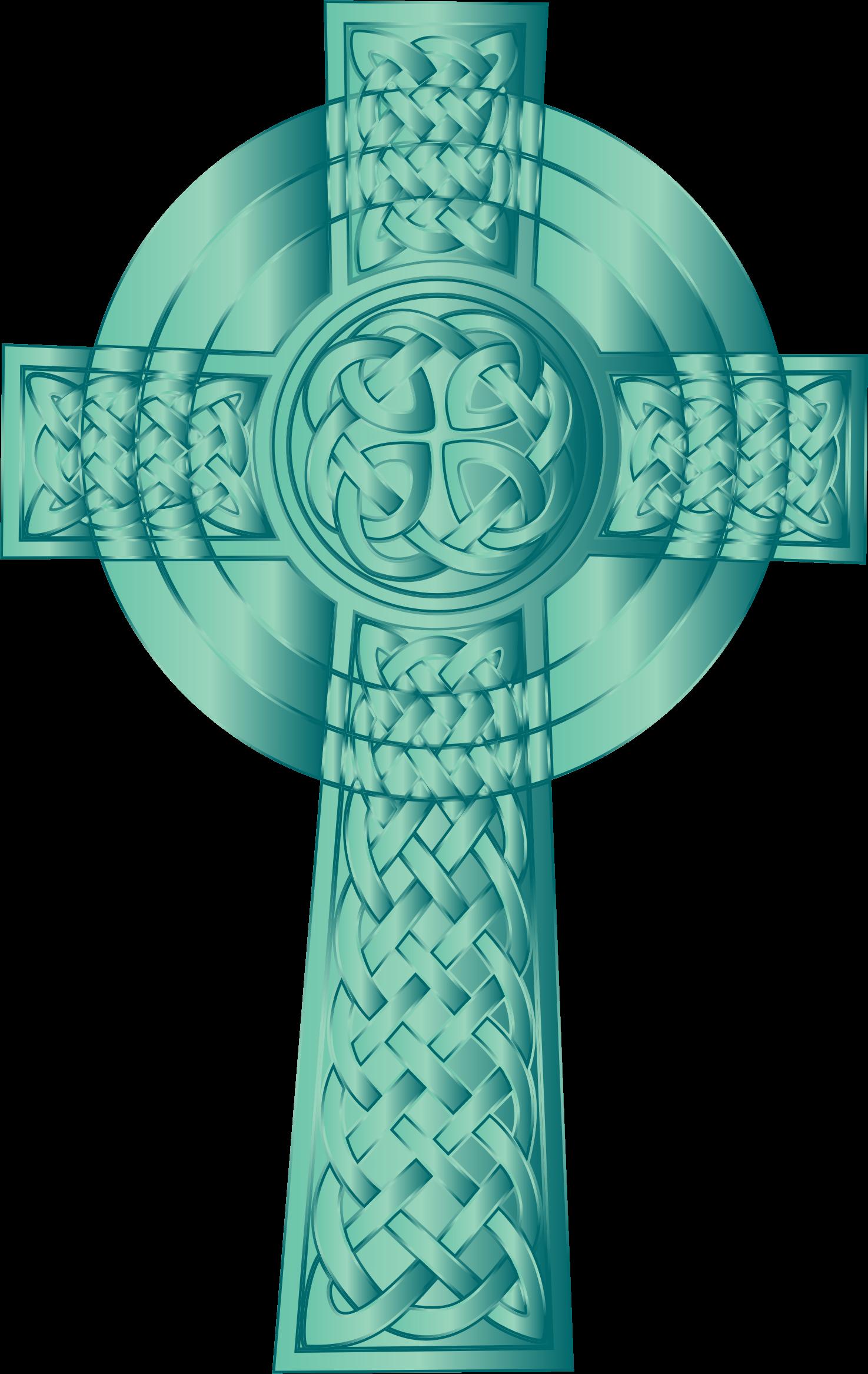 Teal cross clipart free stock Clipart - Jade Celtic Cross free stock