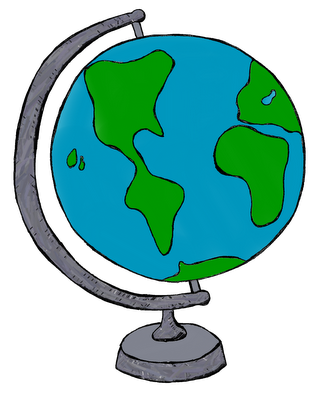 Teal globe clipart picture library Clip Art by Carrie Teaching First: My World Doodles clip art ... picture library