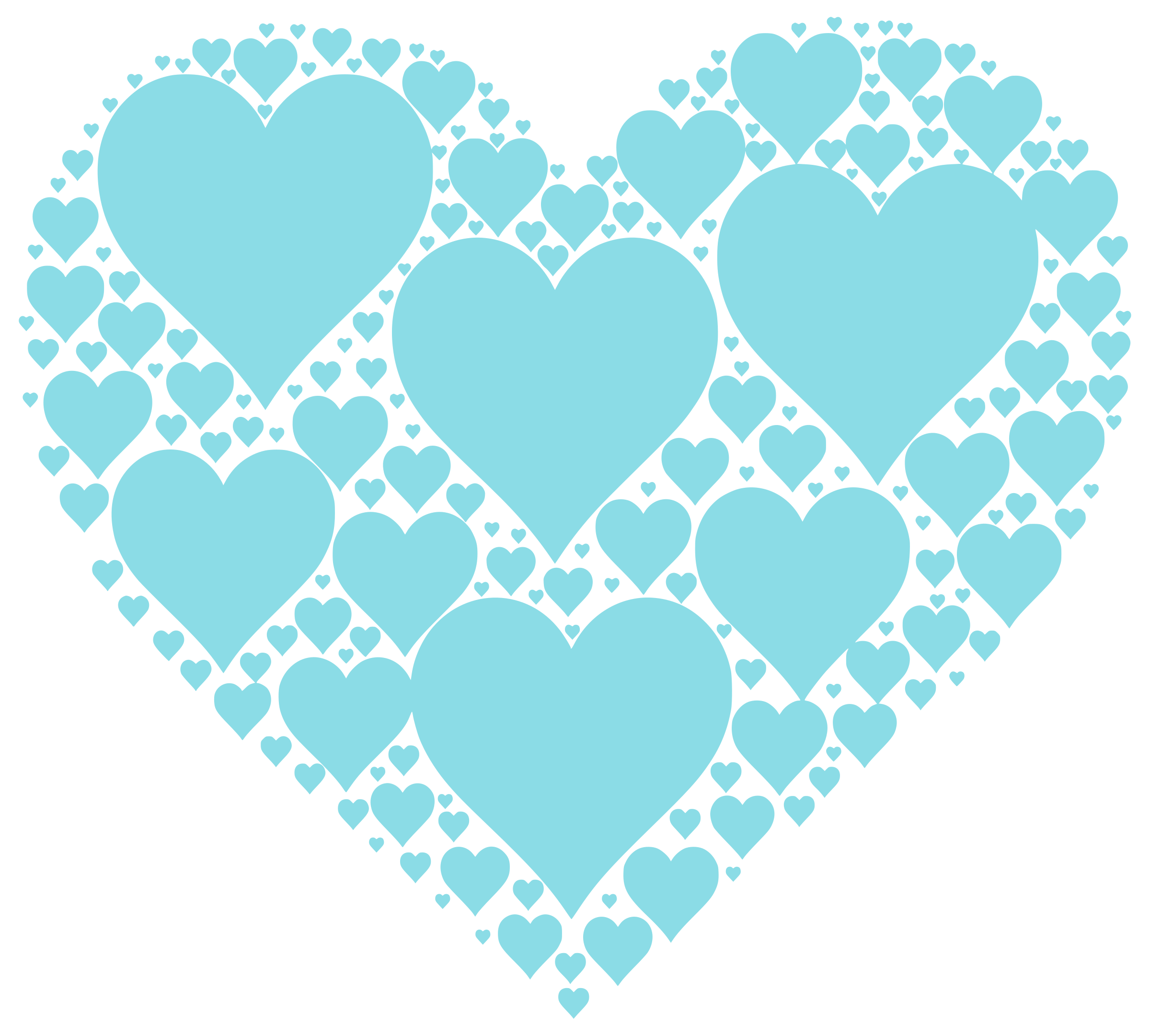 Teal heart clipart jpg royalty free library Clipart - Hearts In Heart - Cyan jpg royalty free library