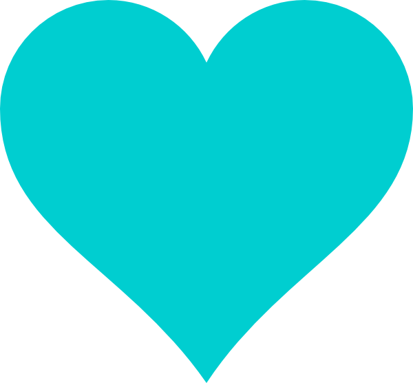 Teal heart clipart clipart library stock Turquoise Teal Heart Clip Art at Clker.com - vector clip art online ... clipart library stock