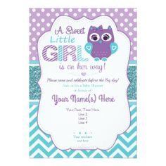 Teal owl baby shower clipart image free stock 35 Best Purple Teal Owl Baby Shower Ideas images in 2017 ... image free stock