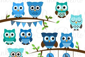 Teal owl baby shower clipart svg freeuse stock Boy Baby Shower Owl Clipart & Vector svg freeuse stock