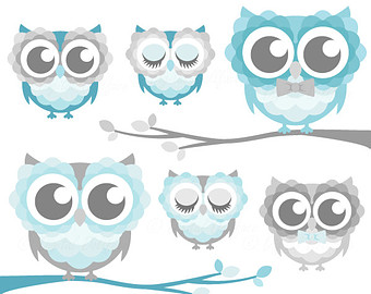 Teal owl baby shower clipart clip black and white Free Cute Blue Owls, Download Free Clip Art, Free Clip Art ... clip black and white
