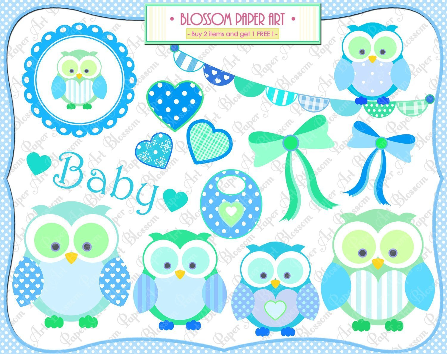 Teal owl baby shower clipart image library download Free Diy Girl Baby Showers Owls Clipart Library Stock Rr ... image library download