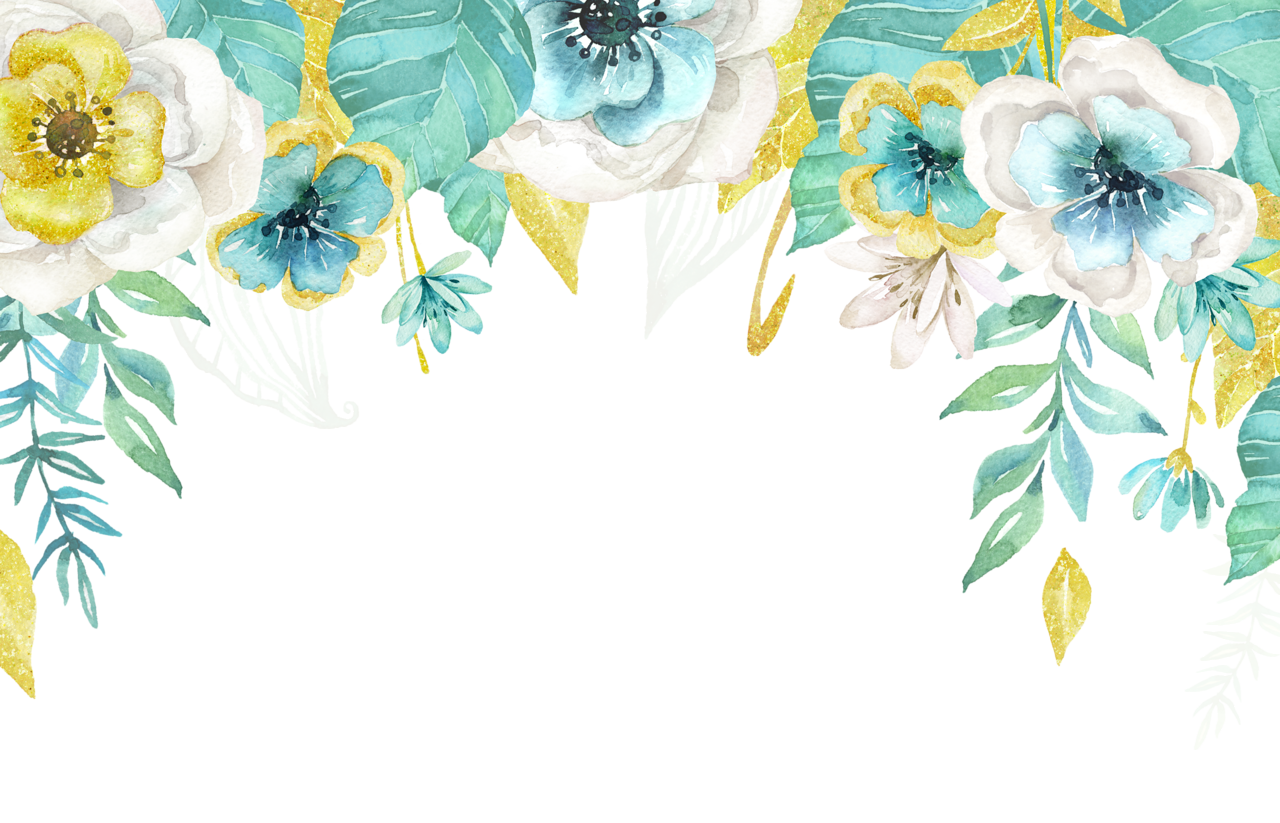 Teal watercolor flower clipart jpg library library Mint&Gold_03.png | Pinterest | Wallpaper, Watercolor and Floral jpg library library