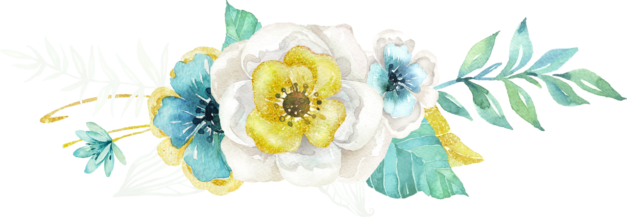 Teal watercolor flower clipart picture freeuse Mint&Gold_03.png | Pinterest | Floral border, Croquis and Flower art picture freeuse