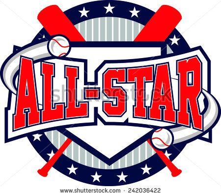 Team all star clipart jpg black and white library Baseball All-Star Logo | 30 themes | Baseball shirts ... jpg black and white library