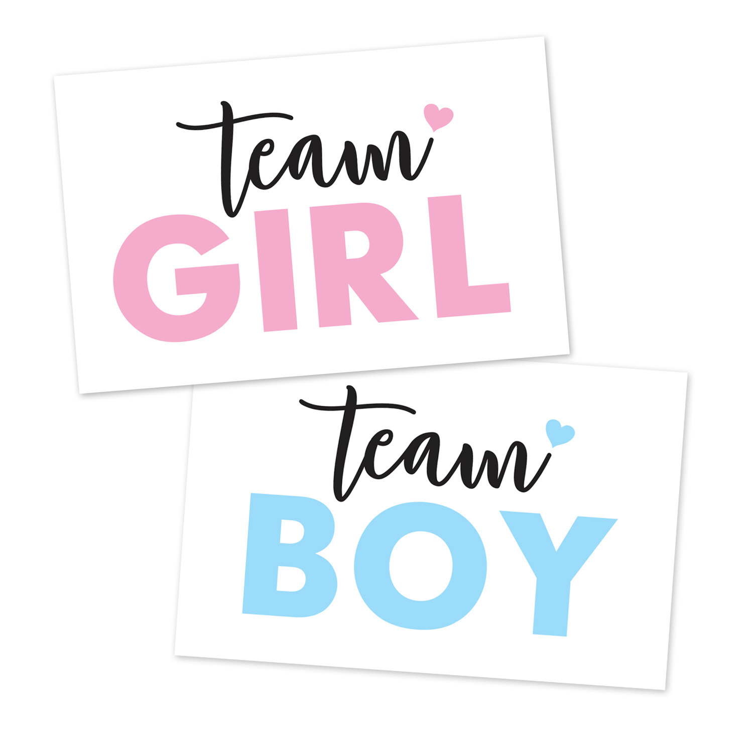 Team boy clipart picture royalty free stock Printable Gender Reveal Team Boy, Team Girl, Signs picture royalty free stock