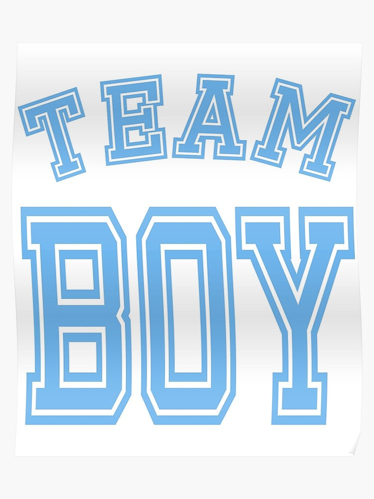 Team boy clipart vector download Team Boy Blue Boy Mom Baby Shower Gender Reveal Party Cute Funny Gift |  Poster vector download