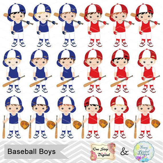 Team boy clipart image freeuse Digital Boy Baseball Clipart, Boy Baseball Digital Clip Art ... image freeuse