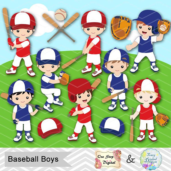 Team boy clipart graphic library download Digital Boy Baseball Clipart, Boy Baseball Digital Clip Art ... graphic library download