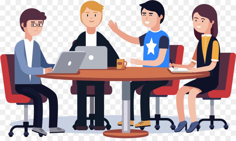 Team vector clipart banner transparent library Classroom Cartoon clipart - Teamwork, Communication, Table ... banner transparent library