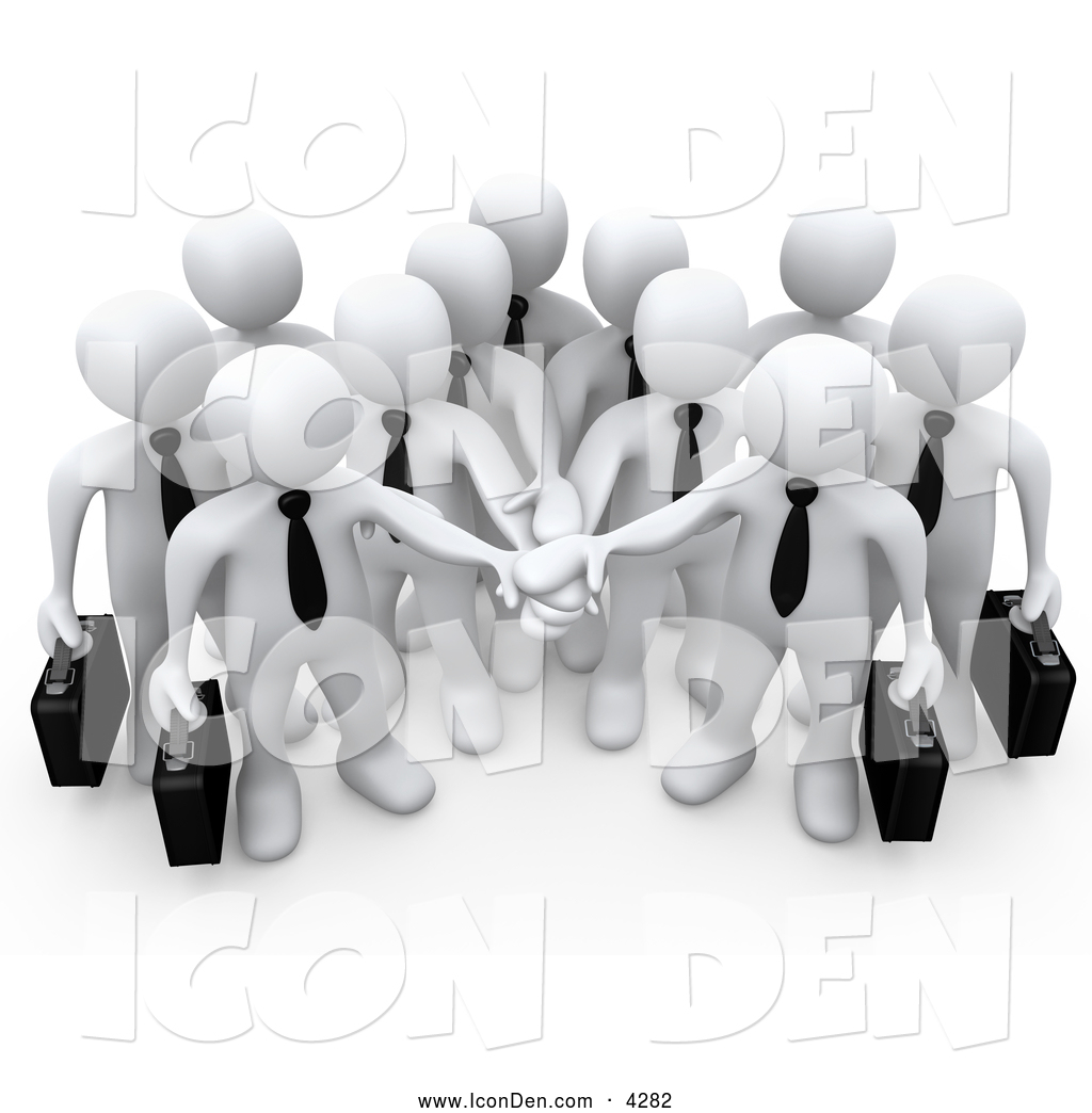 Teamwork and goals clipart freeuse download Clip Art of a Group of Office Business People Carrying ... freeuse download