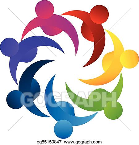 Teamwork and goals clipart banner library library Vector Illustration - Logo teamwork concept of business ... banner library library