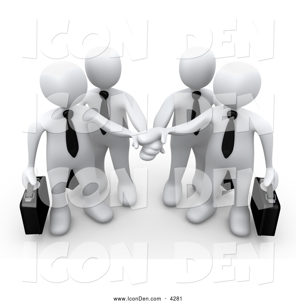 Teamwork and goals clipart picture Clip Art of Four White Business People Carrying Briefcases ... picture
