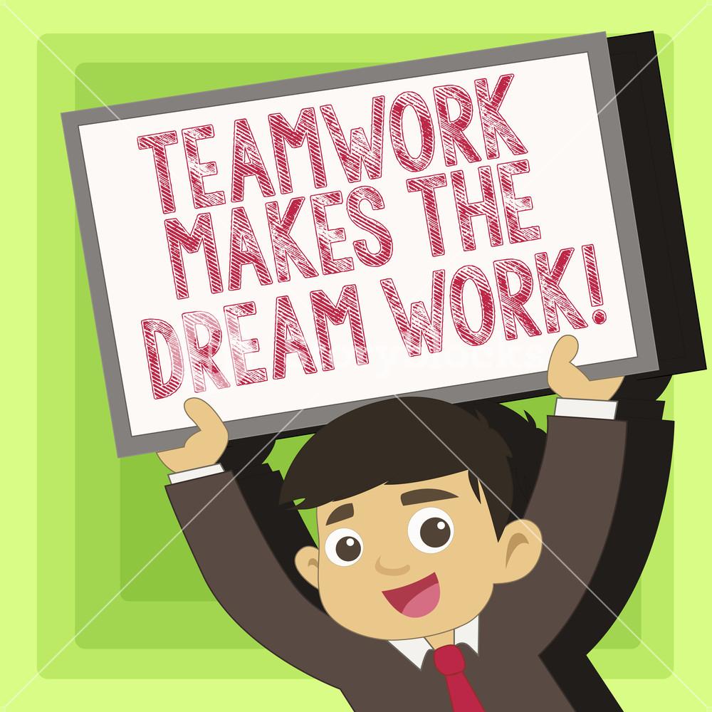 Teamwork make the dreamwork clipart png transparent stock Handwriting text Teamwork Makes The Dream Work. Conceptual ... png transparent stock