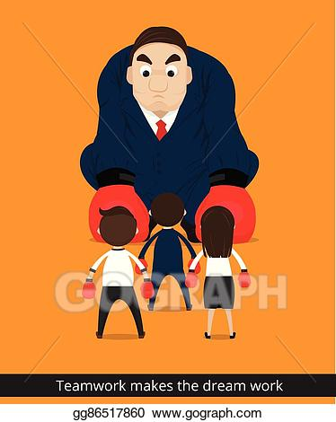 Teamwork make the dreamwork clipart picture royalty free library Vector Art - Teamwork makes the dream work. Clipart Drawing ... picture royalty free library