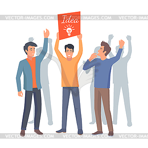 Teamwork success clipart banner freeuse Teamwork and Successful Startup - vector clipart banner freeuse