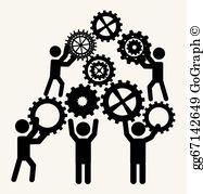 Teamwork vector clipart clip royalty free download Teamwork Clip Art - Royalty Free - GoGraph clip royalty free download