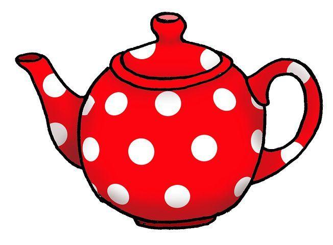 Teapot clipart cartoon jpg free download Spot Red Teapot Graphic Art Cartoon T | Tafeldoek | Tea pots ... jpg free download