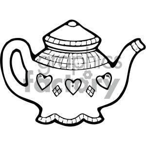 Teapot clipart cartoon graphic black and white download black white cartoon teapot art clipart. Royalty-free clipart # 405122 graphic black and white download