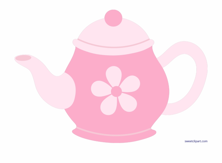 Teapot flower pot clipart black and white library Pink Clipart Teapot - Pink Tea Pot Cartoon Free PNG Images ... black and white library