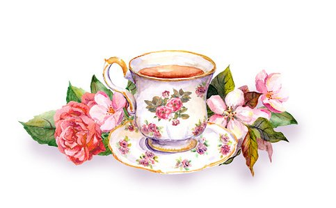 Teapot flower pot clipart picture free Teacup and Tea Pot With Pink Watercolor premium clipart ... picture free