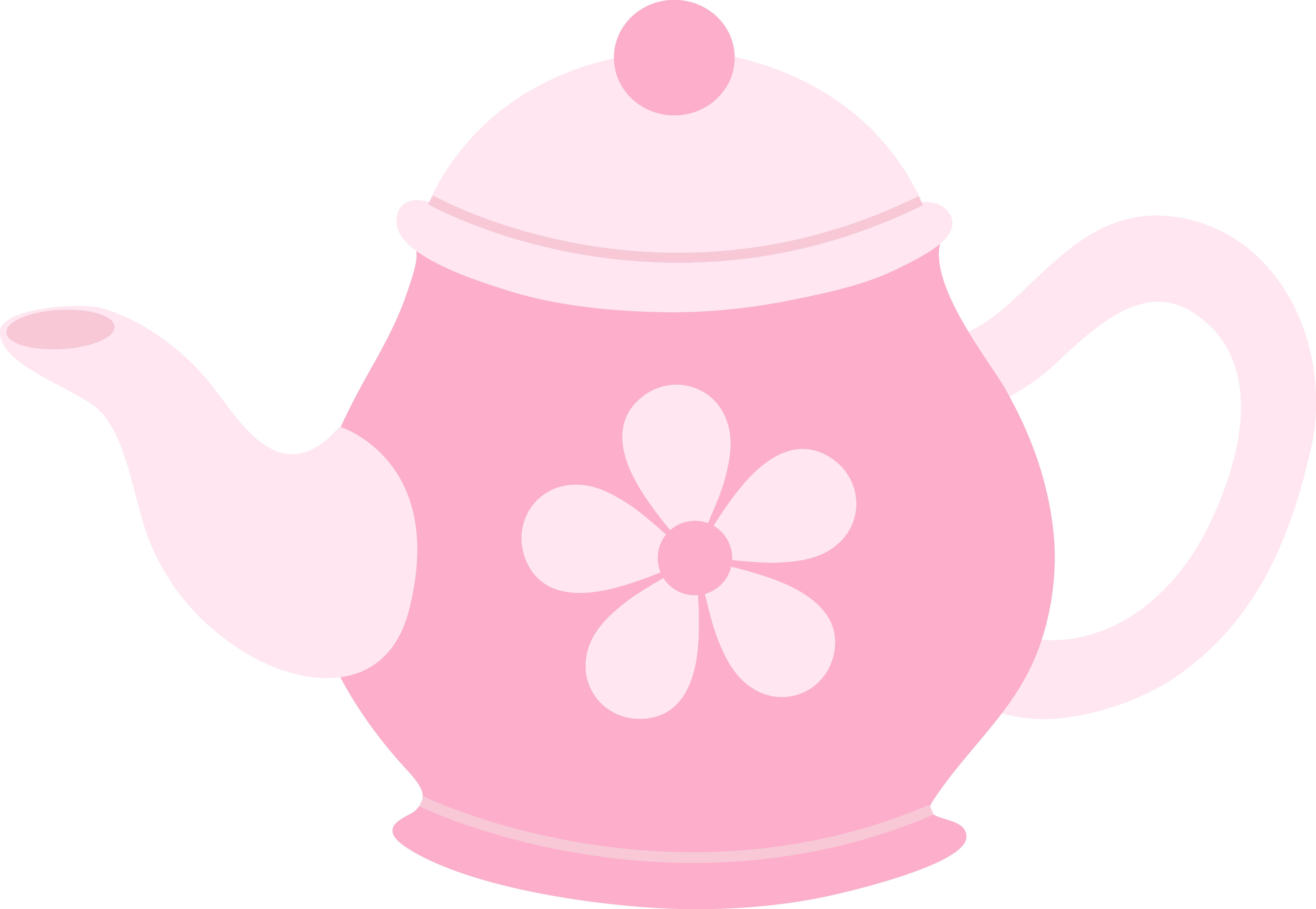 Teapot flower pot clipart png stock Pink Teapot With Flower - Free Clip Art png stock