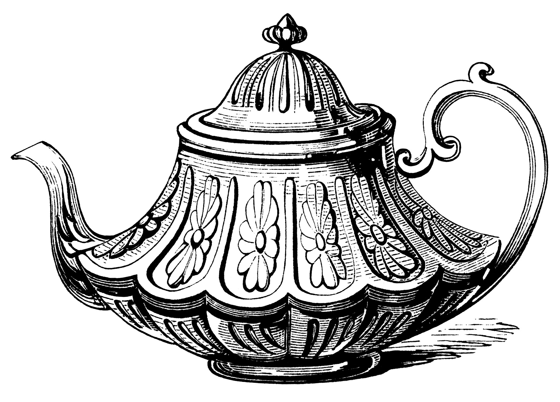 Teapot mad hatter disney clipart vector library download 78+ images about decoupage on Pinterest | Mad tea parties, Vintage ... vector library download