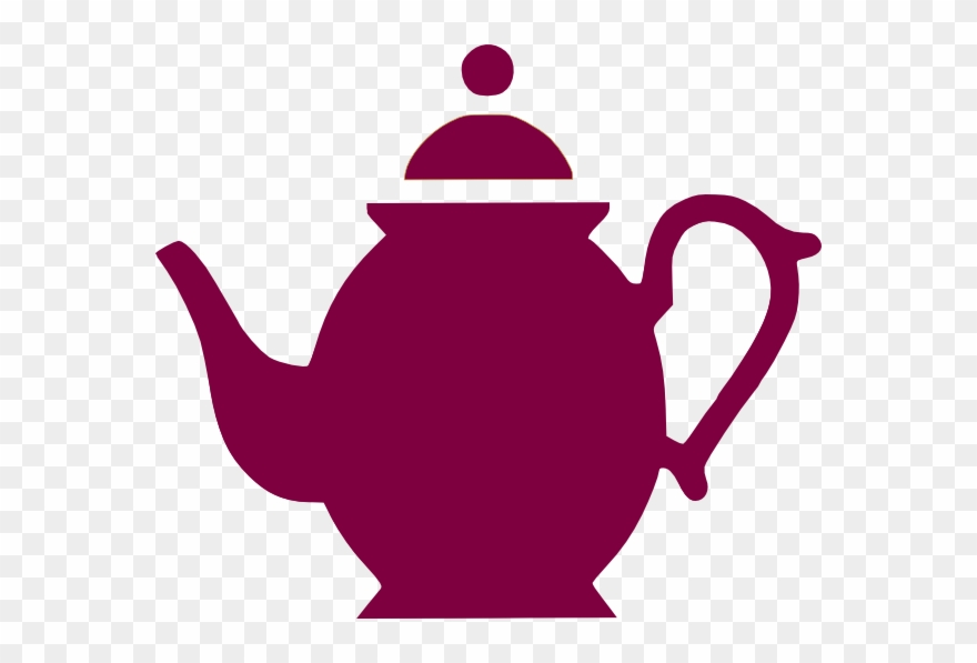 Teapot pouring tea clipart picture transparent stock Teapot Pouring Magenta Clip Art At Clker - Teapot Silhouette ... picture transparent stock