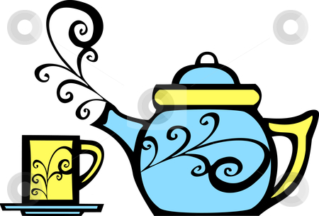 Teapot pouring with steam and sun clipart picture Teapot Border Cliparts   Free download best Teapot Border ... picture