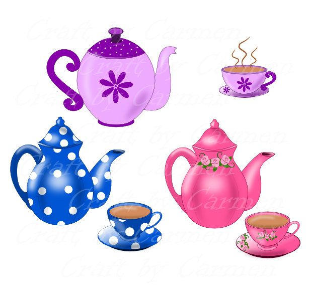 Teapot with cups images clipart royalty free Teapot clip art, teapot and cup, teapot digital, clipart ... royalty free