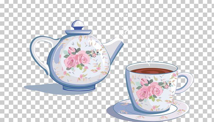 Teapot with cups images clipart image freeuse download Teapot Coffee Cup Kettle PNG, Clipart, Ceramic, Coffee Cup ... image freeuse download