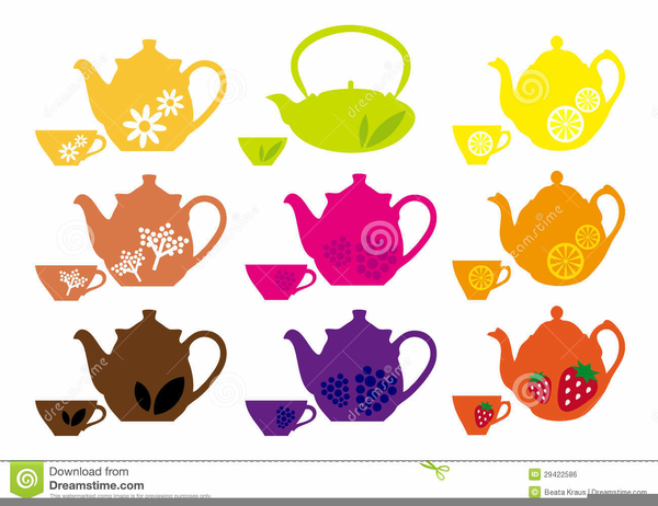 Teapot with cups images clipart vector black and white library Teapot And Cups Clipart   Free Images at Clker.com - vector ... vector black and white library