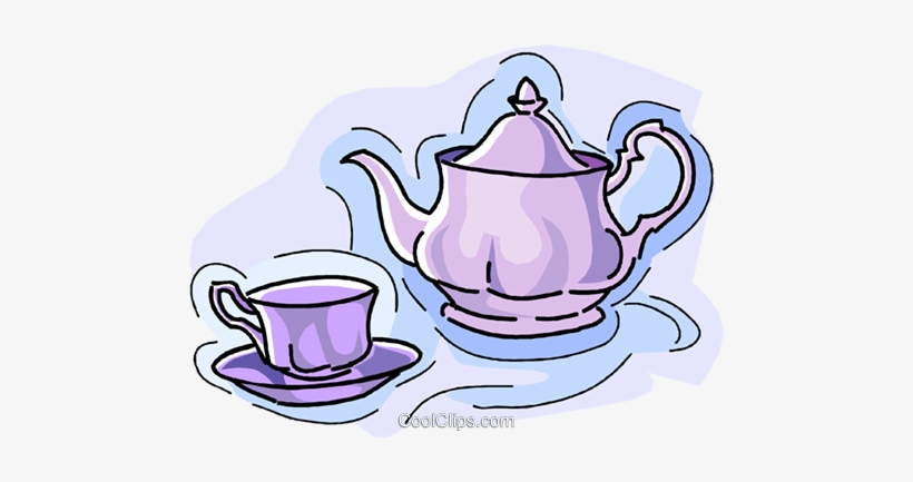 Teapot with cups images clipart vector Teapot With Teacup Royalty Free Vector Clip Art Illustration ... vector