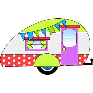 Teardrop trailer clipart png transparent stock Retro camper clipart, cliparts of Retro camper free download ... png transparent stock