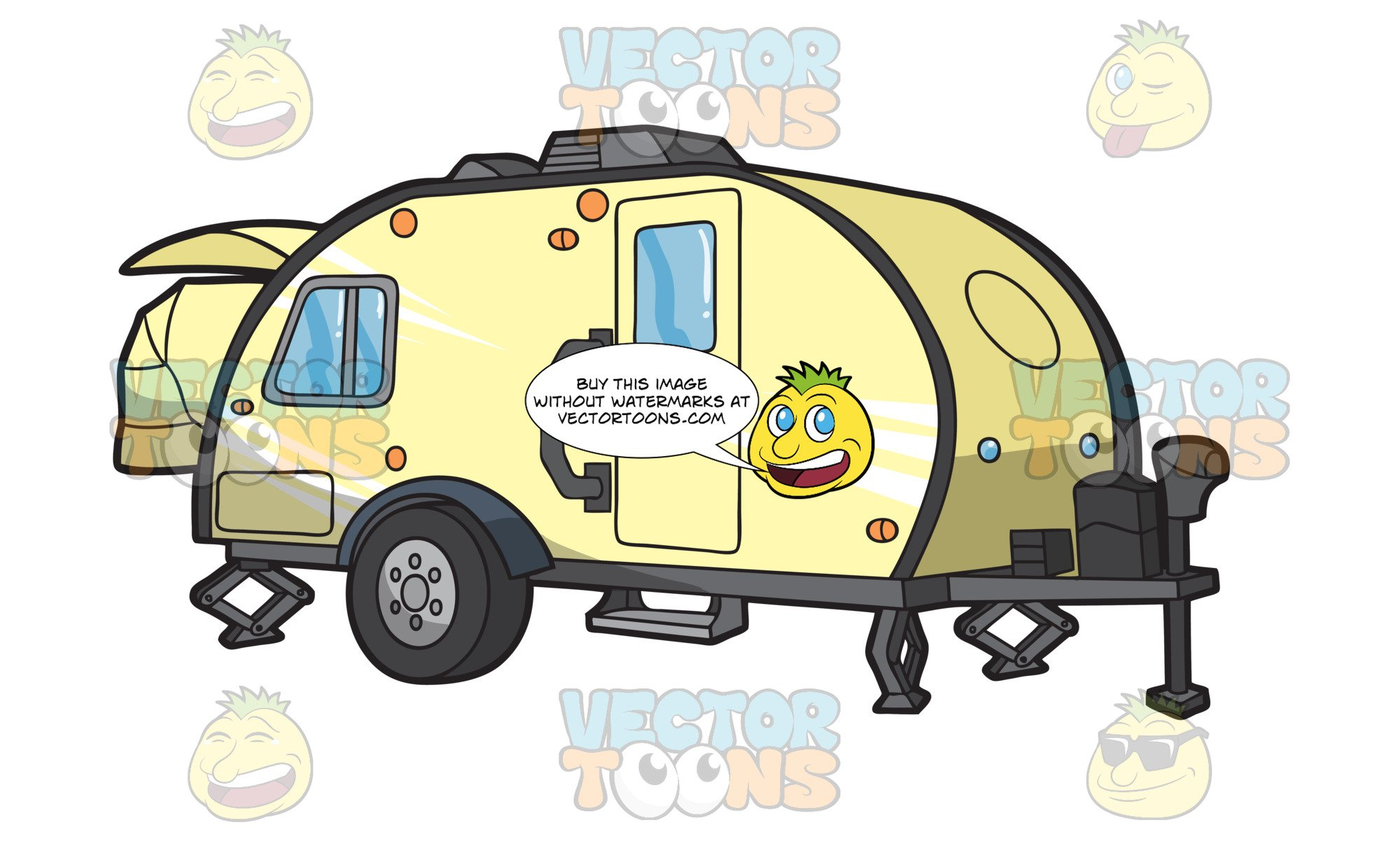 Teardrop trailer clipart black and white stock A Teardrop Trailer black and white stock