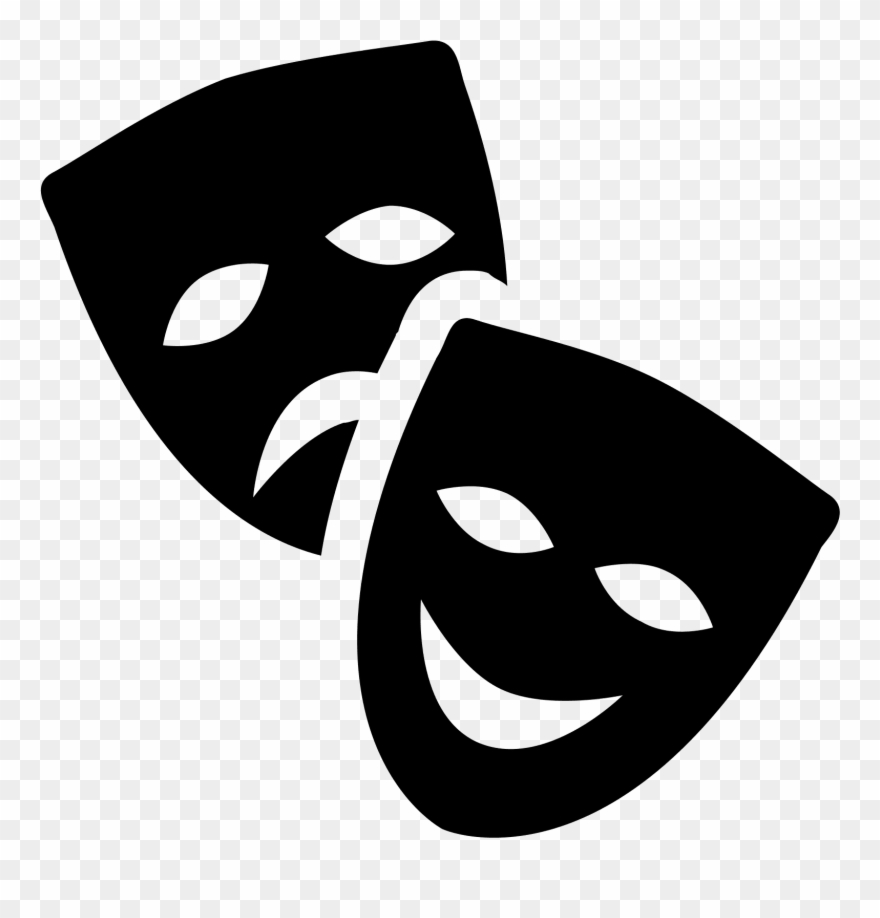 Teatro clipart banner black and white stock Clip Art Images - Mascaras Teatro Png Transparent Png ... banner black and white stock