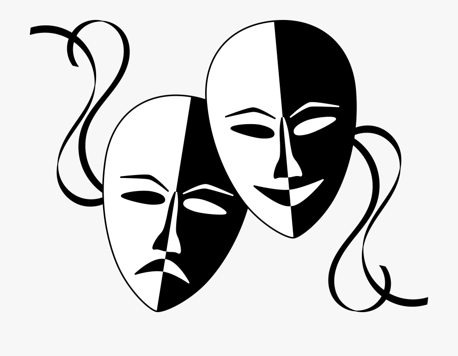 Negro clipart banner free library Teatro Blanco Y Negro , Transparent Cartoon, Free Cliparts ... banner free library