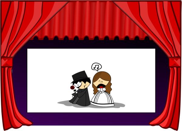 Teatro clipart graphic library download Teatro Free Stock Clipart - Stockio.com graphic library download